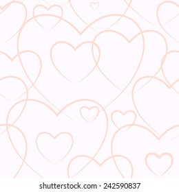 Seamless background consisting of hearts for Valentine's day, vector illustration