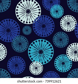 Seamless background with decorative snowflakes. Winter pattern. Textile rapport.