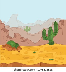 Seamless background. Desert landscape for game design.