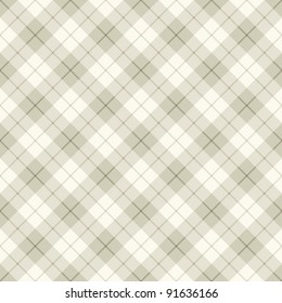Seamless background of diagonal brown plaid pattern, vector