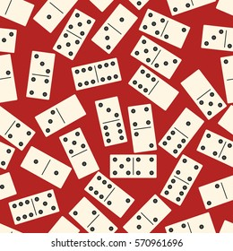 seamless background with dominoes. vector illustration.