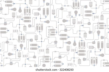 Seamless Background Electrical Scheme Technological Process Stock ...