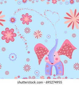 seamless background with elephant