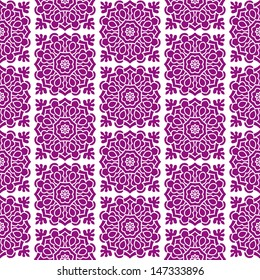 Seamless Background With Ethnic Ornament