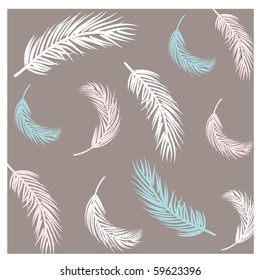 Seamless background with feathers