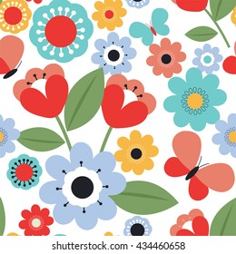 Seamless background with flower design suitable for wrapping and wallpaper background