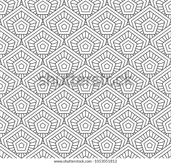 Seamless Background Form Stained Glass Pattern Stock Vector