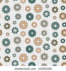 seamless background with gears