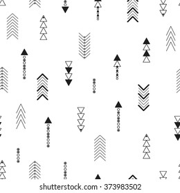 Seamless background of geometric arrows