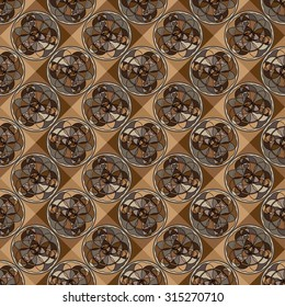 Seamless background with geometric mosaic pattern. Vector illustration