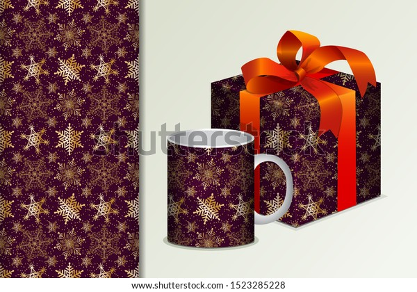seamless background gift mug mock golden stock vector royalty free 1523285228 shutterstock