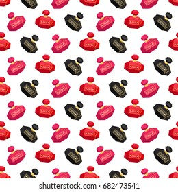 Seamless background from a glamorous perfume. Pattern.