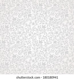 Seamless background of grey color in the style of baroque