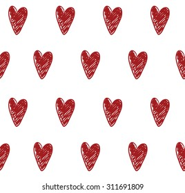 seamless background with hearts love vector