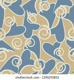 Seamless background with hearts. Modern, fashionable pattern.