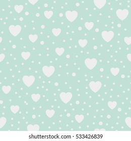 Seamless Background Hearts. Vector Illustration.