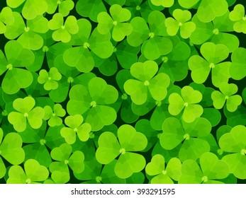 Seamless background leaf clover
