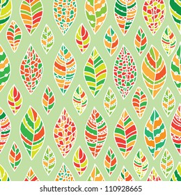 seamless background from the leaves