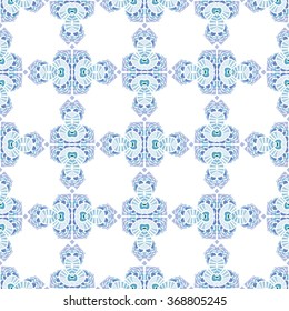 Seamless background made of blue and violet abstract elements