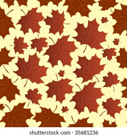 Seamless a background with maple leaves. Vector illustration