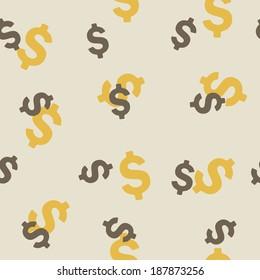 seamless background: money