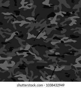 seamless background of multicam dark camouflage