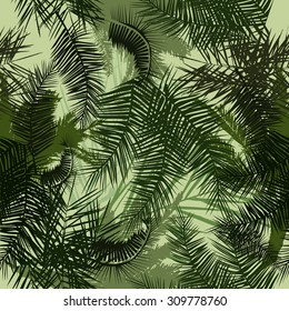Seamless background palm trees. Vector