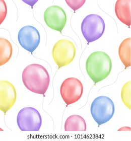 Seamless background pattern with balloons