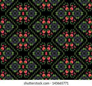 seamless background pattern with floral elements from Persian traditional art