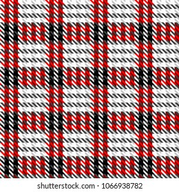 Seamless background pattern. Geometrical plaid background with classic Hounds-tooth pattern.