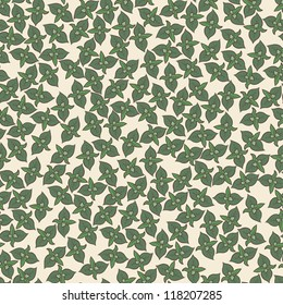 Seamless background / pattern with mint leaves
