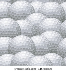 seamless background pattern of multiple white golf balls