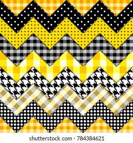 Seamless background pattern. Patchwork pattern of chevron pattern.
