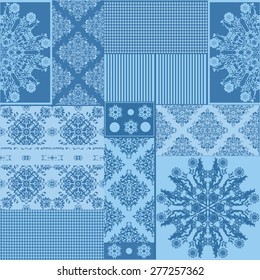 Seamless background pattern.  Patchwork with patches, pattern in rural style. Tile