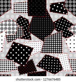 Seamless background pattern. Patchwork pattern. Vector image
