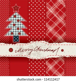 Seamless background pattern. Will tile endlessly. Cristmas card.