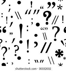 seamless background with punctuation marks