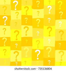 Seamless background with question signs. Vector illustration