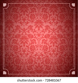 Seamless background of red color