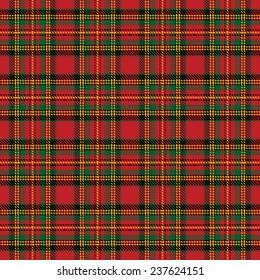 Seamless background with red scottish tartan pattern