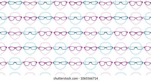 seamless background repeat pattern of male and female heads wearing glasses