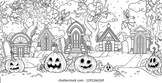 Horror Coloring Pages High Res Stock Images Shutterstock