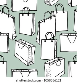 Seamless background of the shopping bags