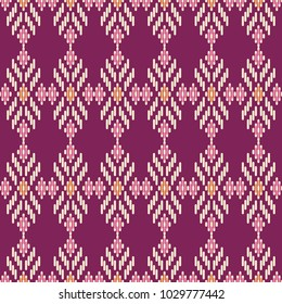 Seamless background southeast Asian retro aboriginal traditional art textile pattern cross line geometry check