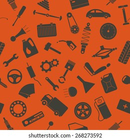 Seamless background with spare parts. Vector EPS8 illustration.