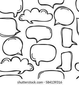 Seamless background of speech bubbles