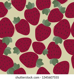 Seamless background with strawberry.