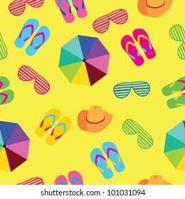 seamless background summer accessories