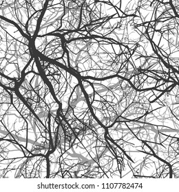 Seamless background of a tree branch. Vector