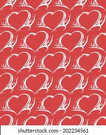 Seamless background. Tribal heart style. Vector illustration.